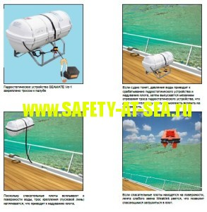 Принцип работы гидростата для плота Seamate Ve-1