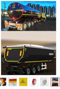 Лента светоотражающая для грузовых автомобилей
